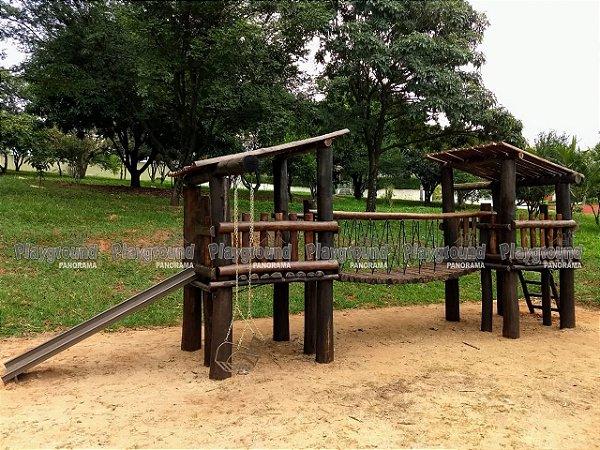 Playground Centro de atividades instalado no Ibiti do Paço