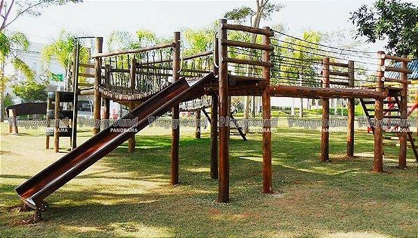Conjunto de playground de eucalipto | Condomínio Residencial Mont Blanc