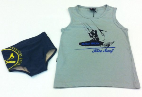 CONJUNTO SUNGA E CAMISETA KIDS BAD BOY