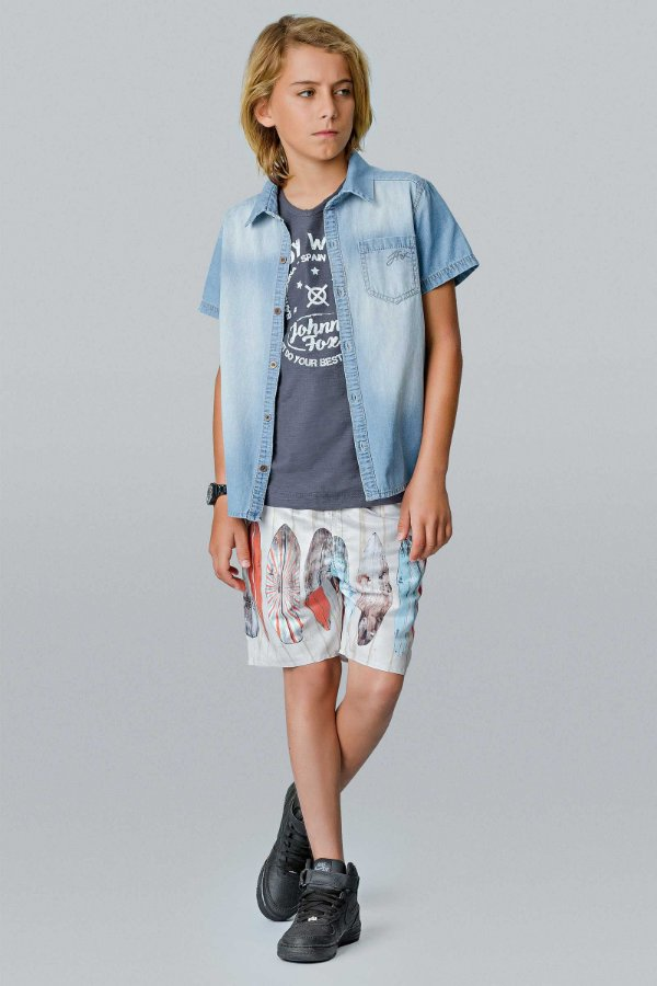 SHORTS TACTEL PRANCHAS JOHNNY FOX