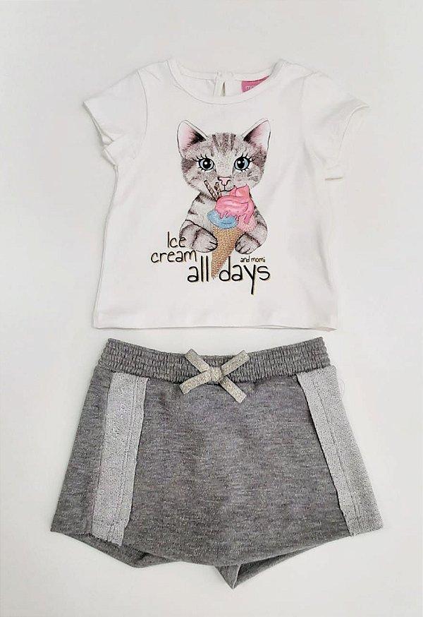 Conjunto Blusa e Shorts Saia Momi
