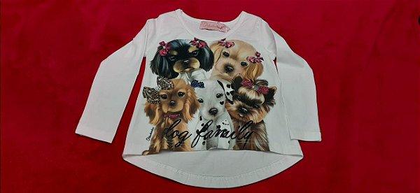 Blusa cachorrinho manga longa Pituchinhus