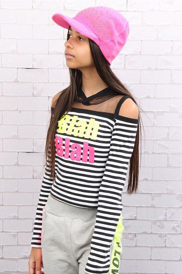 Boné em tricot neon Perfumaria