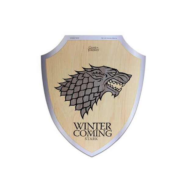 Placa Escudo Game Of Thrones Stark Winter Is Coming