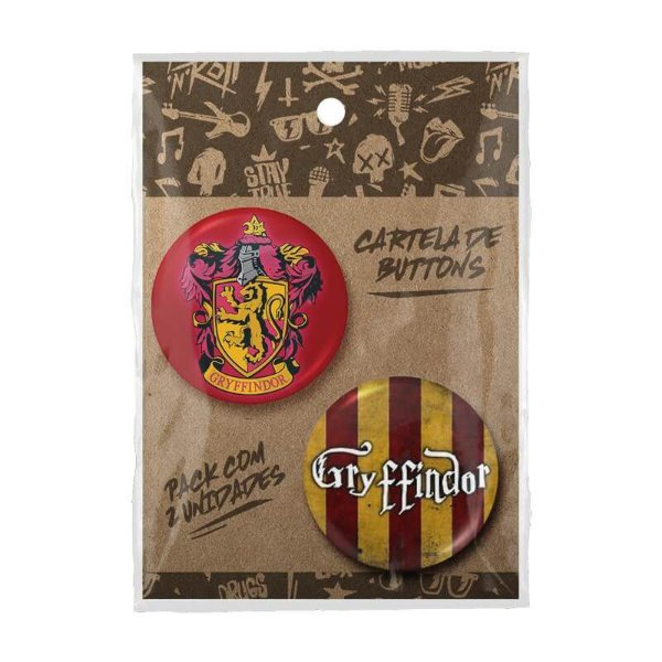 Pack Bottons Harry Potter Grifinória