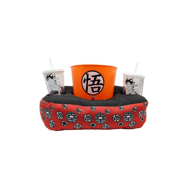 Kit Almofada Porta Pipoca Dragon Ball Symbol