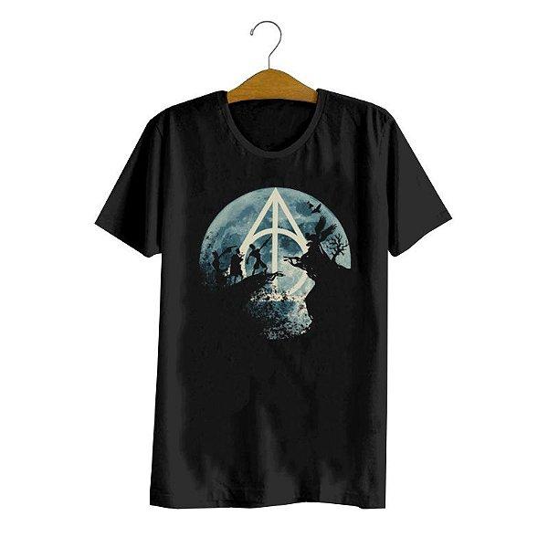 Camiseta Harry Potter Relíquias da Morte