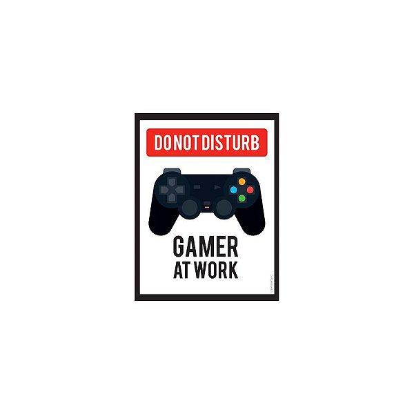 Placa Do Not Disturb Gamer At Work
