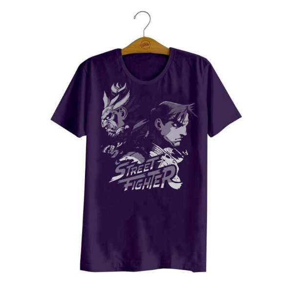 Camiseta Street Fighter Akuma e Ryu