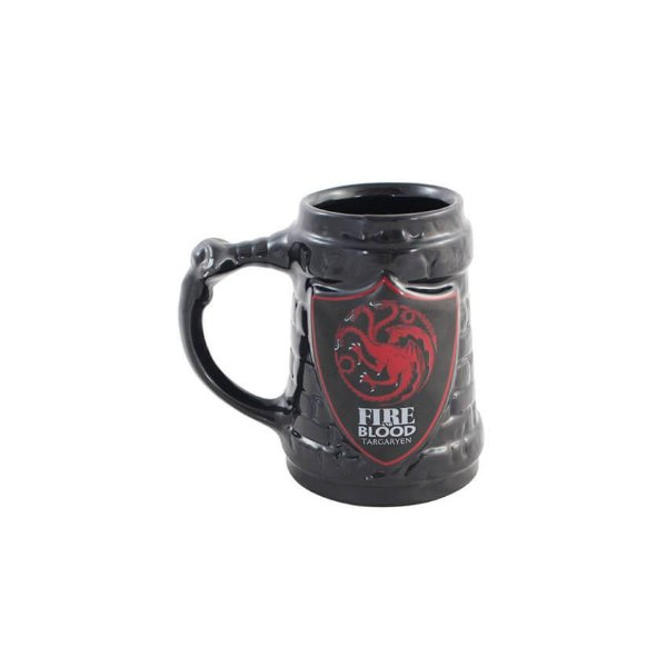 Caneca 3D Game Of Thrones Targaryen Escudo