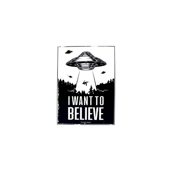 Placa I Want To Believe