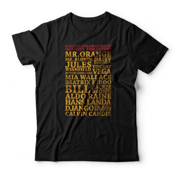 Camiseta Tarantino Personagens