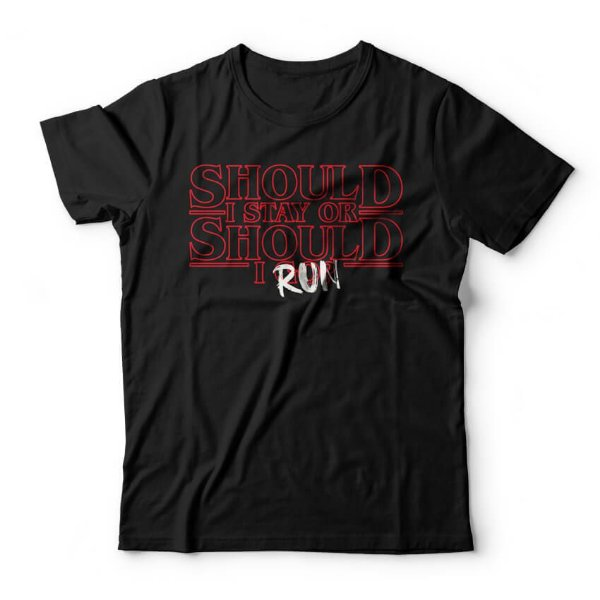 Camiseta Stranger Things Should I Run