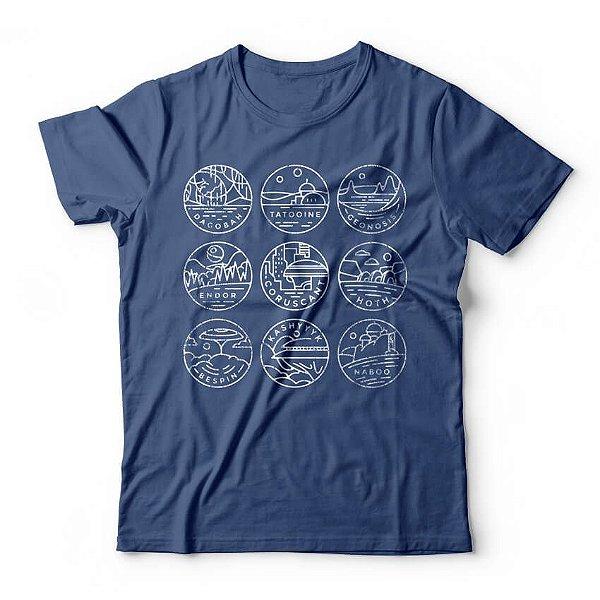 Camiseta Star Wars Planetas