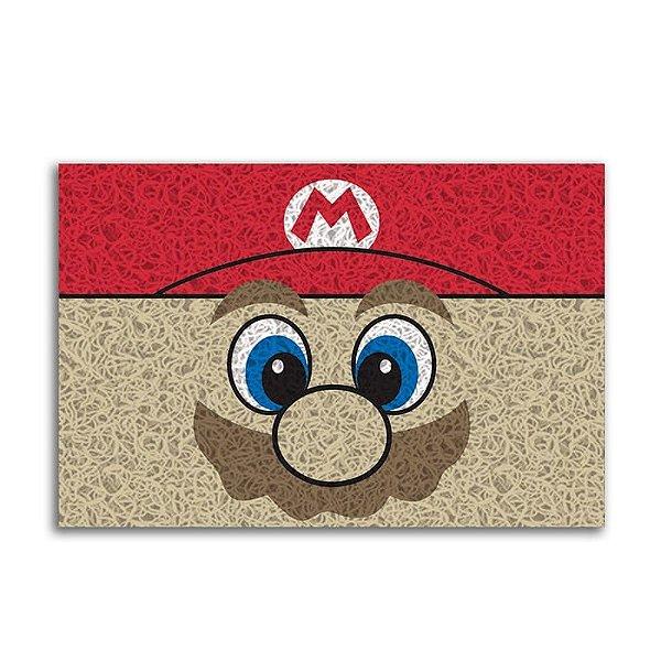 Capacho Vinil Mario Face