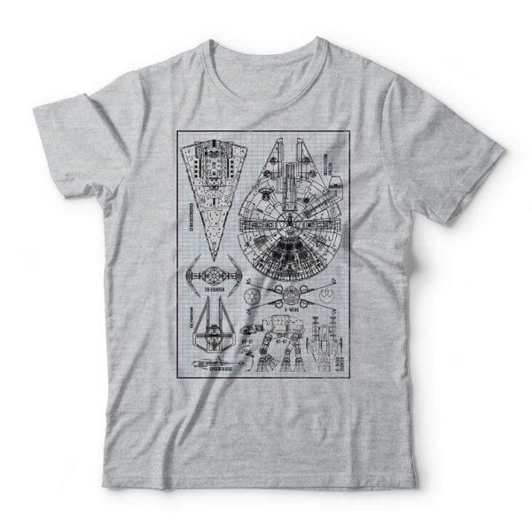 Camiseta Star Wars Naves