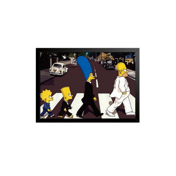 Quadro Simpsons Abbey Road