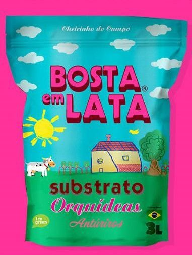 Substrato Orgânico Bosta em Lata Orquideas -3 litros