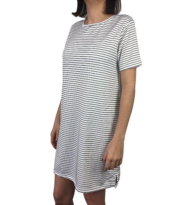 vestido listras preto e branco | coleteria