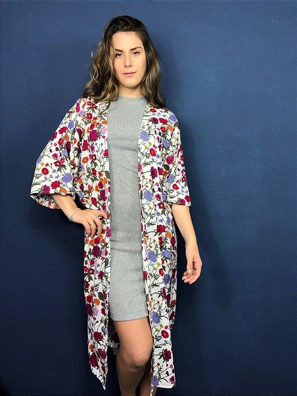 maxi kimono floral Coleteria