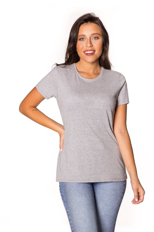 Camiseta básica mescla | t-shirt básica | Coleteria