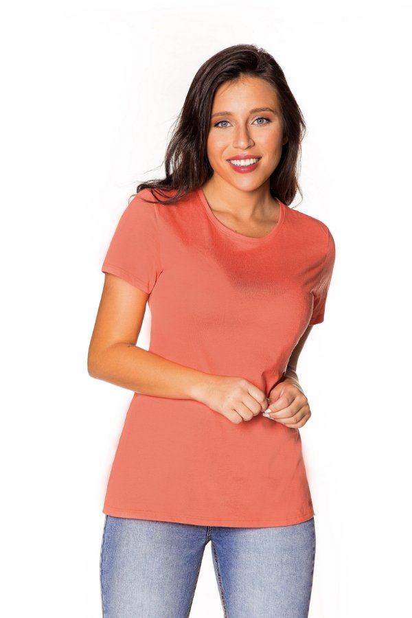 Camiseta básica coral   t-shirt básica  Coleteria