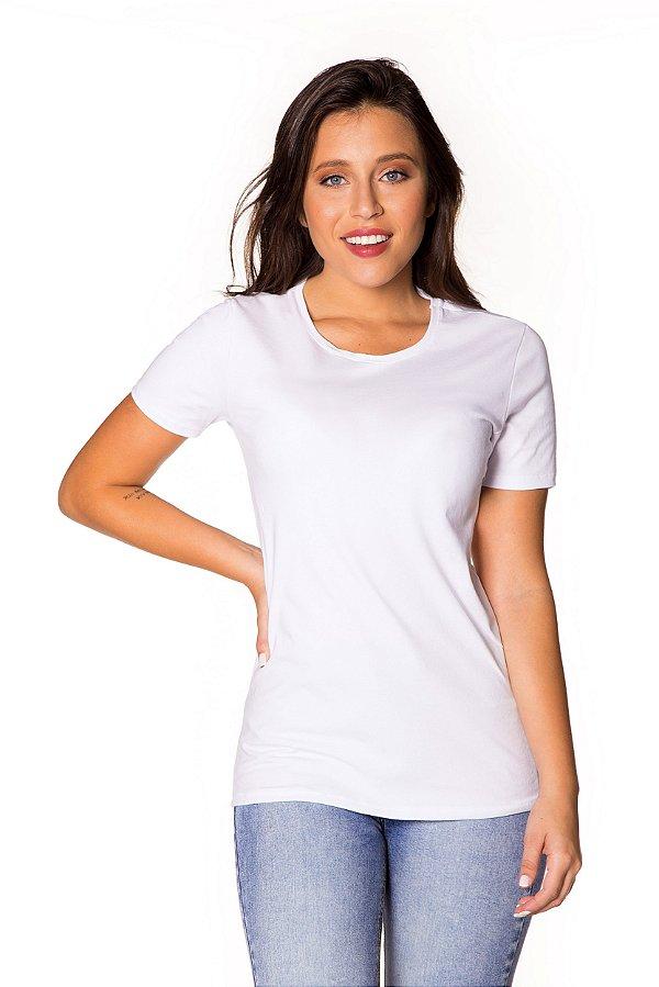 Camiseta básica Cotton branca | t-shirt básica| Coleteria