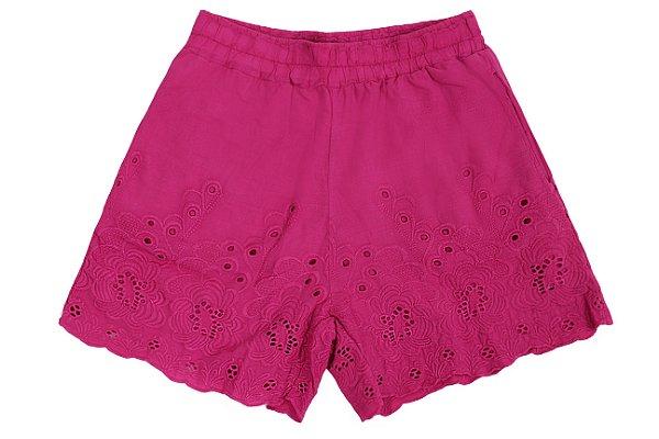 Short Tecido Barrado rosa |short| Coleteria