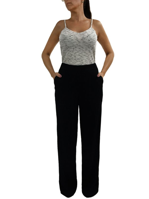 Calça Pantalona Preta |Calça| Coleteria