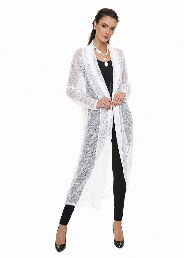 Casaco Alongado Off White|casaco|Coleteria
