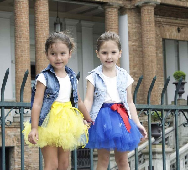 colete jeans infantil | tutu claro | coleteria in the city