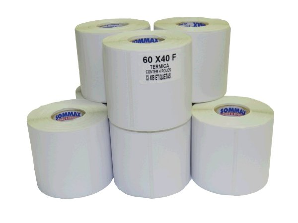Etiqueta Térmica para Balança - 60X40mm C/440 unidades no rolo