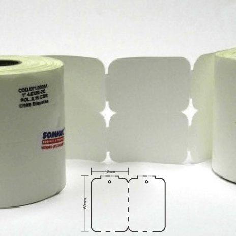 Etiqueta polietileno TAG 40x60mm Estrela com 999 etiquetas Sem Serrilha