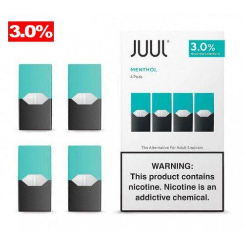 REFIL JUUL (PACK OF 4) MENTHOL 3% NIC SALT
