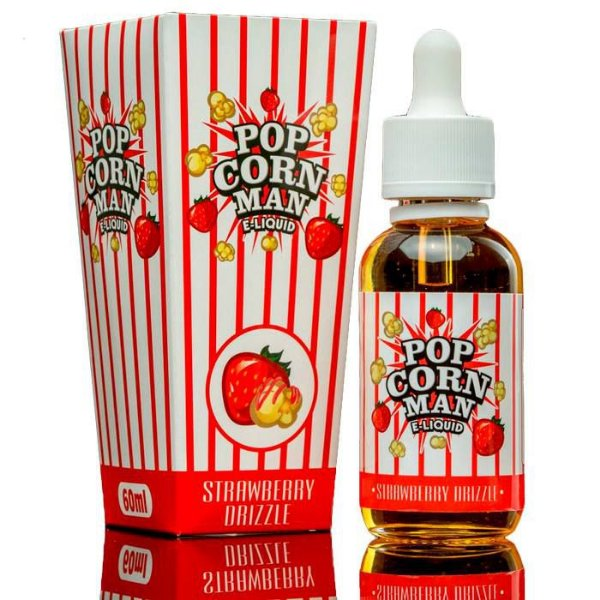 LIQUIDO STRAWBERRY DRIZZLE 70VG - 60ML - THE POPCORN MAN