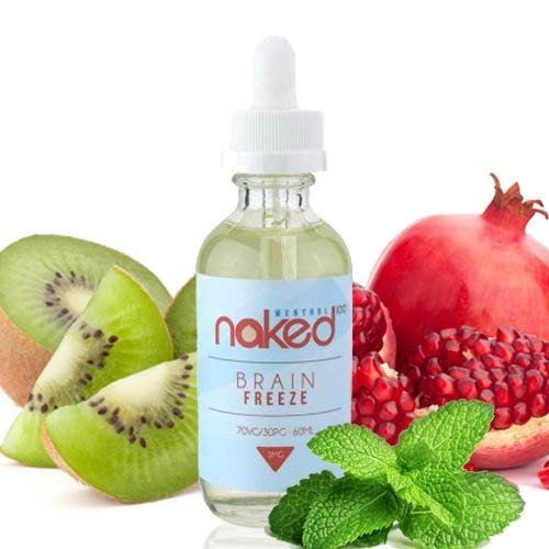 LÍQUIDO NAKED 100 - BRAIN FREEZE - 60 ML - 3MG NICOTINA