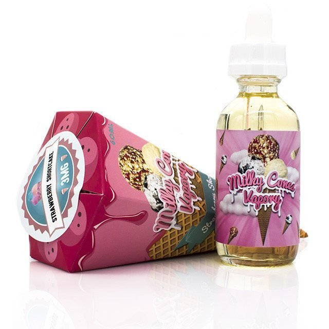 MILKY CONES VAPORY - STRAWBERRY SHORT CAKE ICE CREAM 60 ML 3MG