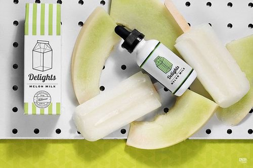 E-LIQUID DELIGHTS MELON MILK MAX VG  60ML - THE MILKMAN