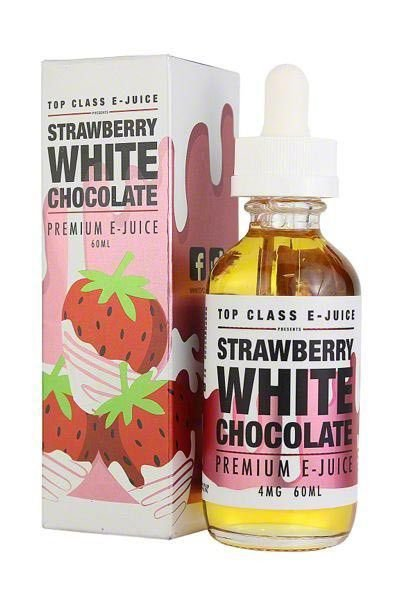 LIQUIDO TOP CLASS PREMIUM 60ML - STRAWBERRY WHITE CHOCOLATE - VG70/30