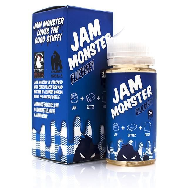 LIQUIDO JAM MONSTER BLUEBERRY - 100ML - 3MG NICOTINA