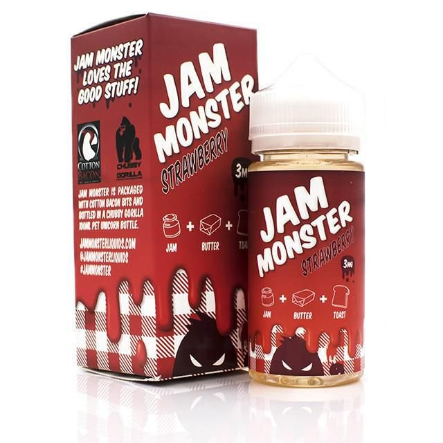LIQUIDO JAM MONSTER STRAWBERRY - 100ML - 3MG NICOTINA