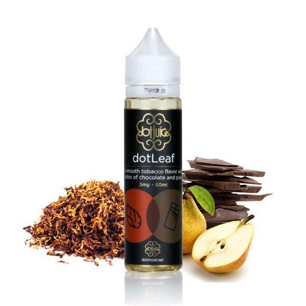 LIQUIDO DOT LEAF (TABACO C/ NOTAS DE CHOCOLATE E PERA) - 120ML - 3MG NICOTINA