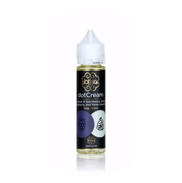 LIQUIDO DOT CREAM (BLACKBERRY E TRES CREMES) - 120ML - 3MG NICOTINA
