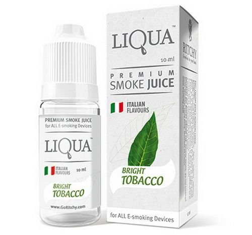 LIQUIDO BRIGHT TOBACCO - LIQUA 30ML - 18MG NICOTINA