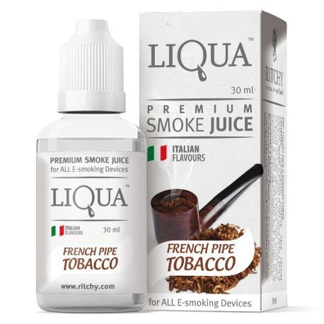 LIQUIDO FRENCH PIPE TOBACCO - LIQUA 30ML - 18MG NICOTINA