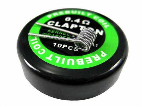 PACK COM 10 COIL'S FLAT CLAPTON 0.4 Ω - PREBUILT COIL