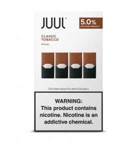 REFIL JUUL (PACK OF 4) TOBACCO CLASSICO