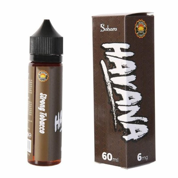 LIQUIDO SAHARA HAVANA - STRONG TOBACCO - 60ML - 6MG NICOTINA