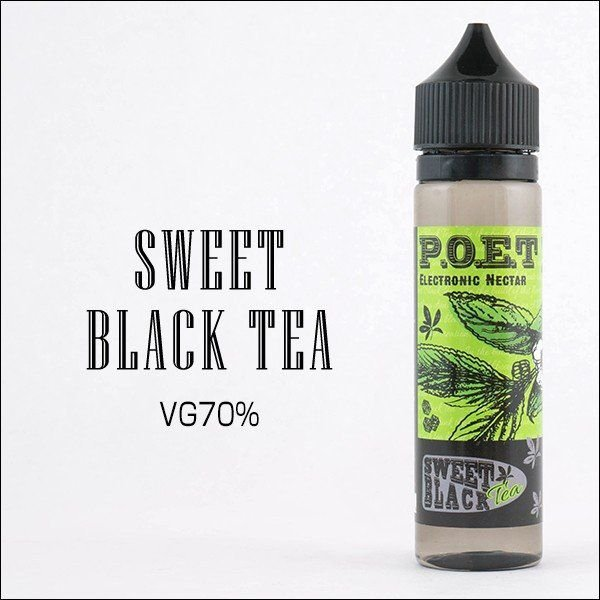 LIQUIDO P.O.E.T - SWEET BLACK  TEA 60ML