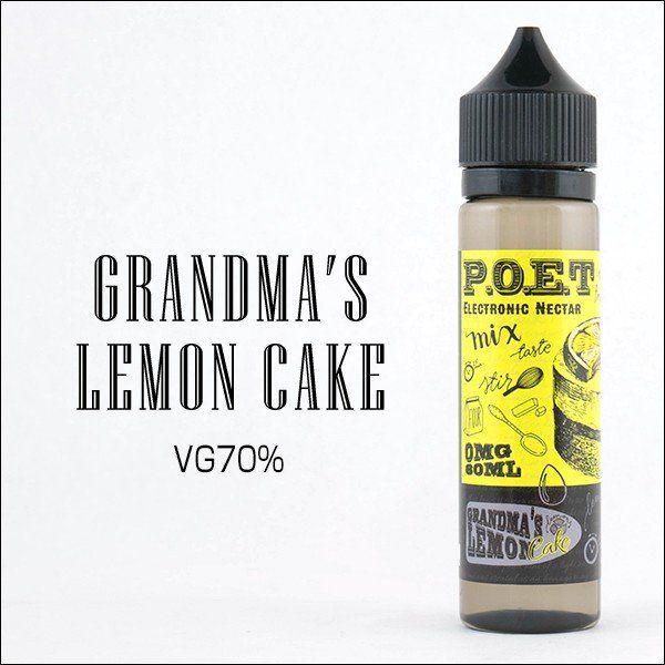 LIQUIDO P.O.E.T - GRANDMAS LEMON CAKE 60ML